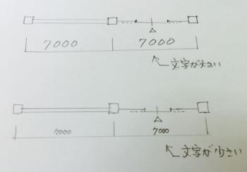 一級建築士製図試験で文字を小さく書く方法の画像