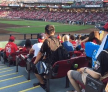 マツダスタジアムの内野指定席Aからの眺め画像