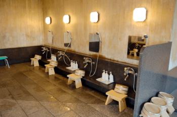メナード青山ホテルの洗い場の画像